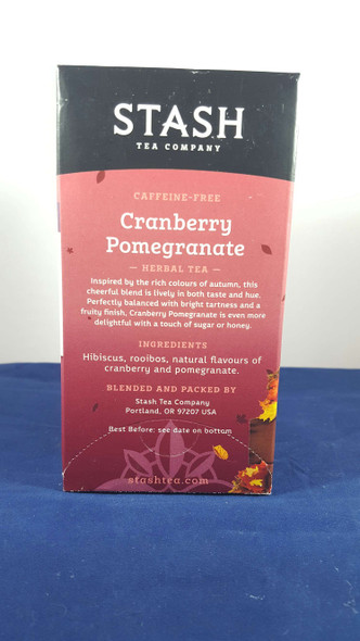 Tea, Cranberry Pomegranate, Caffeine - Free, 18 Tea Bags -