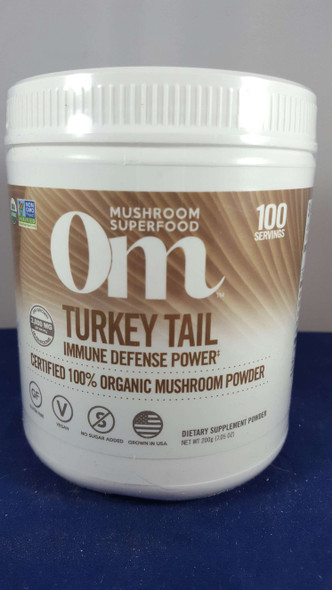 Turkey Tail, Mushroom Powder, Organic, 100 Servings - Cola de Pavo, Polvo de Hongos, Orgánico, 100 Porciones