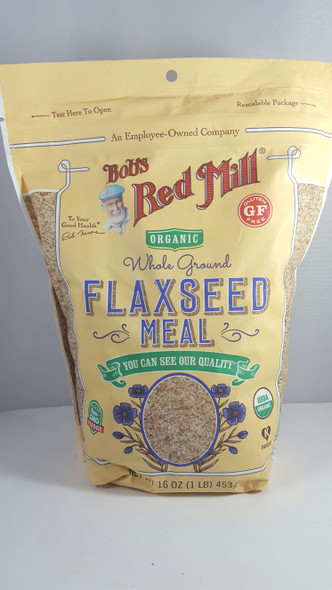 Flaxseed Meal, Whole Ground, Organic, 16 oz. - Harina de Linaza, Molida Entera, Orgánica, 16 oz.