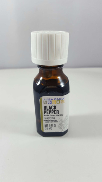 Black Pepper, Essential Oil, .5 fl oz. - Pimienta Negra, Aceite Esencial, .5 fl oz.