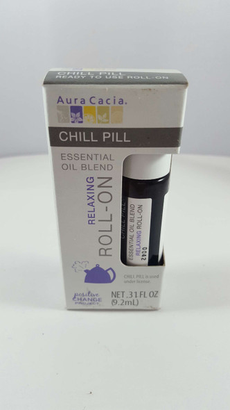 Chill Pill, Essential Oil Blend, Roll-On, .31 fl oz. - Chill Pill, Mezcla de Aceites Esenciales, en Rollo, .31 fl oz.