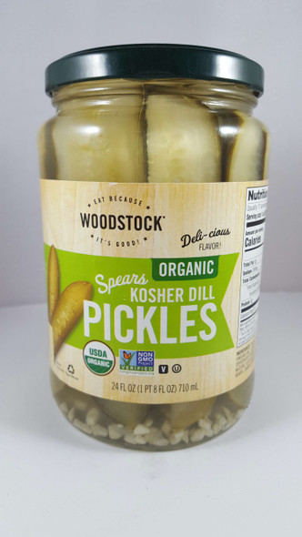 Pickle Spears, Kosher Dill, Organic, 24 fl oz. - Pepinillos, Eneldo Kosher, Orgánico, 24 fl oz.