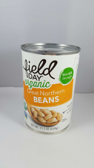 Beans, Great Northern, Organic, 15.5 oz. - Frijoles, Gran Norte, Orgánico, 15.5 oz.