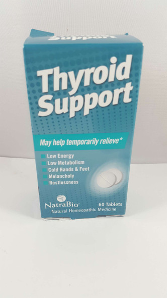 Thyroid Support, Homeopathic, 60 Tablets - Apoyo a la Tiroides, Homeopático, 60 Tabletas