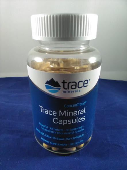 Trace Mineral Capsules, Concentrace, 90 Capsules -Cápsulas de Minerales Traza, Concentrace, 90 Cápsulas
