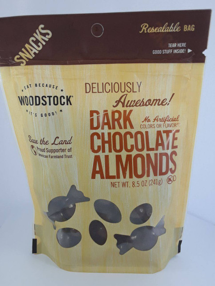 Almonds, Dark Chocolate, 8.5 oz. -Almendras, Chocolate Oscuro, 8.5 oz.