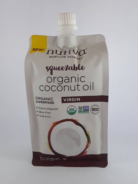 Coconut Oil, Virgin, Organic, 12 fl oz. - Aceite de Coco, Virgen, Orgánico, 12 fl oz.