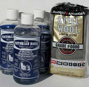 3 Bottles  Finish Rejuvenator for kitchen cabinets, furniture and antiques cleaning