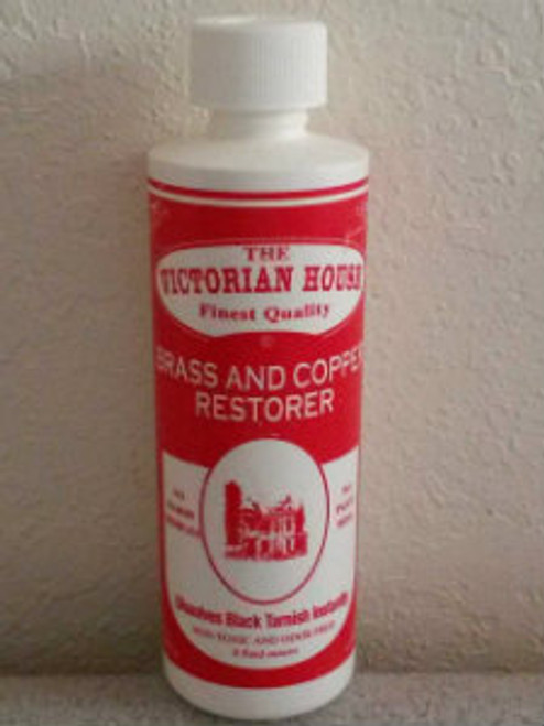 Brass and Copper Restorer.. Clean with no mess and no harsh chemicals.  Rinse Tarnish Away.