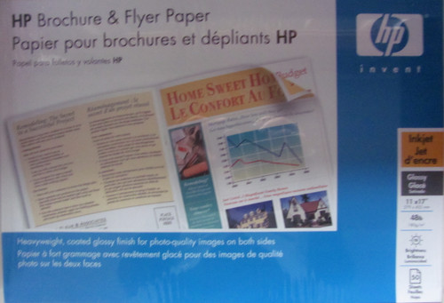 HP glossy inkjet double-sided tabloid brochure and flyer paper