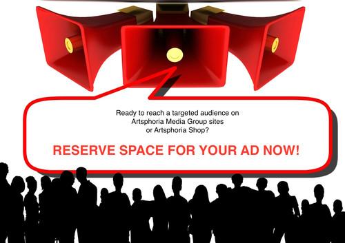 Advertisement on Artsphoria Shop or Site