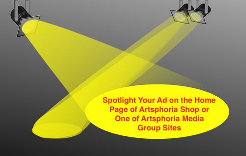 Featured Advertisement on Artsphoria Shop or Site (Home Page)