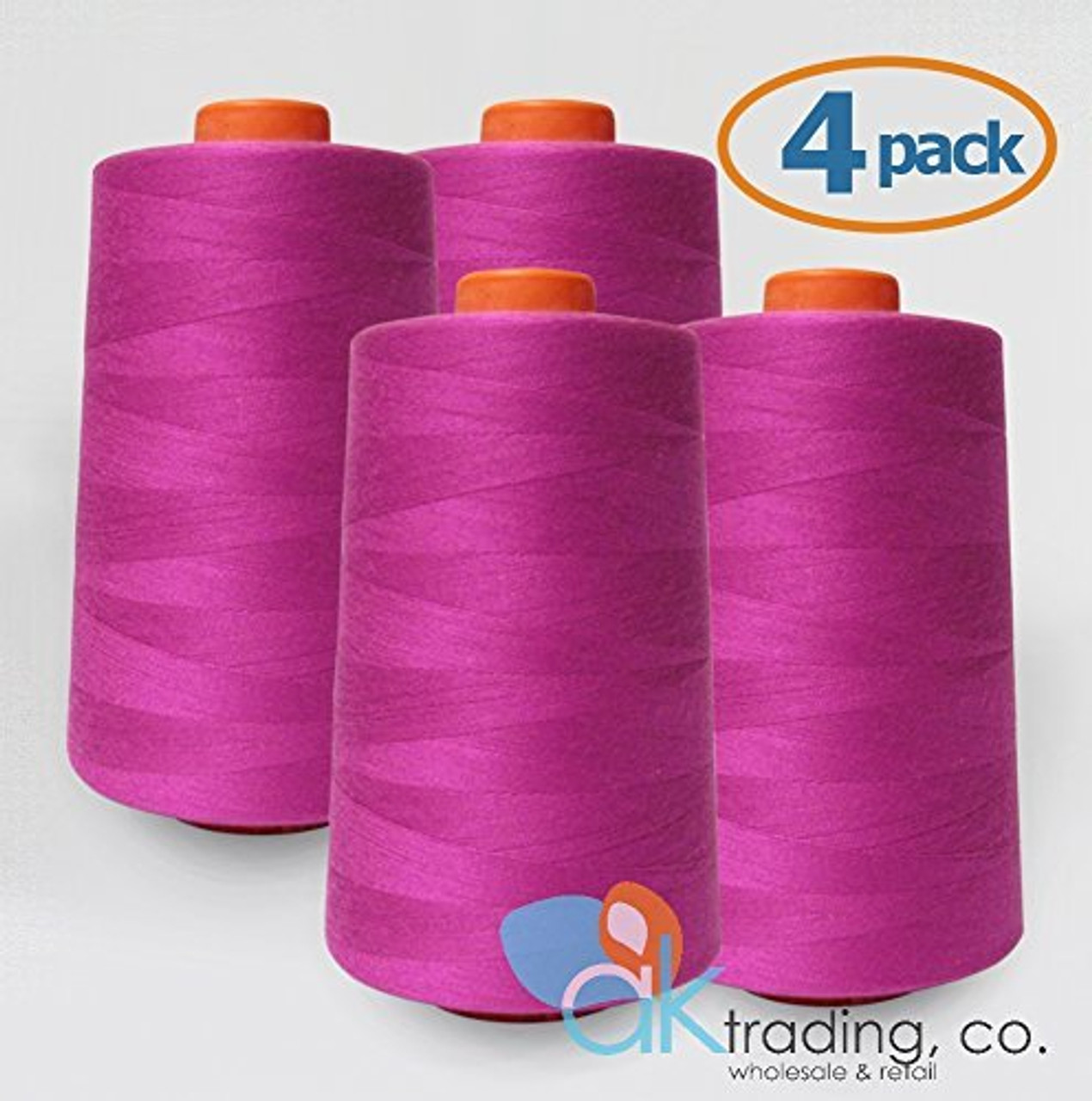 Serger yards each AK-Trading 4-Pack LIGHT GRAY Serger Cone Thread Quilting of Polyester thread for Sewing 6000