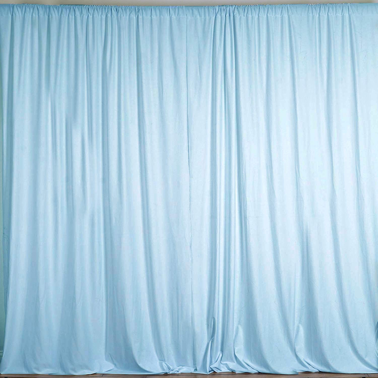2 Pack 10 Feet Polyester Backdrop Drapes Curtains Panels With Rod Pockets Wedding Ceremony Party Home Window Decorations Light Blue Ak Trading Co
