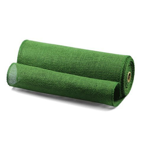 """14"""" X 10yd Burlap Jute Fabric Table Runner (Green)"""