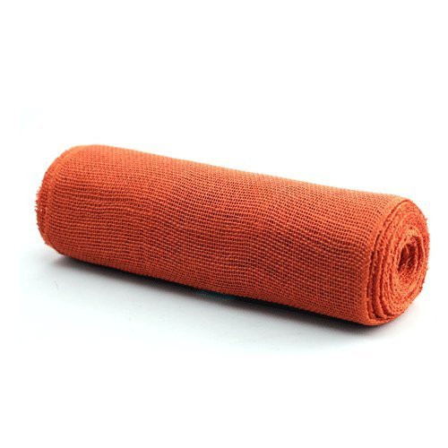 "14"" X 10yd Burlap Jute Fabric Table Runner (Orange)"
