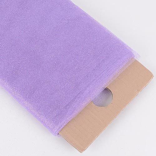 "54"" Inch X 10 Yards Premium Glitter Tulle Fabric Bolt (Lavender)"