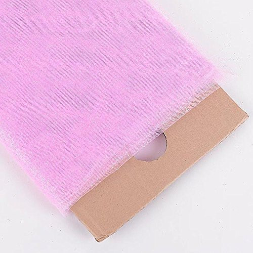 "54"" Inch X 10 Yards Premium Glitter Tulle Fabric Bolt (Light Pink)"