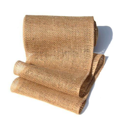 9 Inch Burlap Jute Ribbon Table Runner for Rustic Wedding Decor, Party Decorations, Floral Arrangements, Craft Projects (Natural)