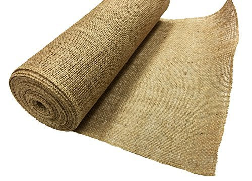 "AK TRADING Burlap Fabric Roll for Diy Crafts & Home Décor Natural, 14"" L by 10 yd"