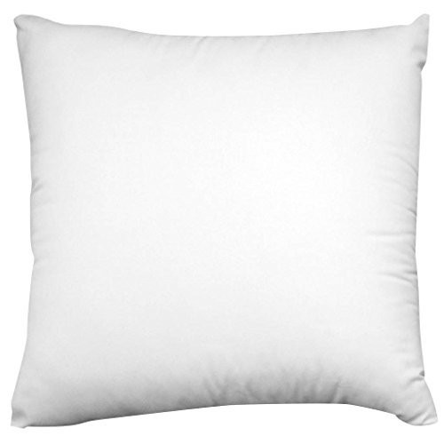 """AK-Trading 24"""" x 24"""" Sham Stuffer Square Hypoallergenic Pillow Insert Polyester, White - MADE IN USA"""