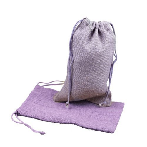 """Burlap Jute Favor Bags (Pack of 12) - Select From 8 Colors Available in 3 Sizes (3""""x5"""", Lavender)"""