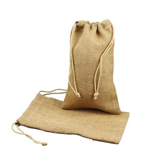 """Burlap Jute Favor Bags (Pack of 12) - Select From 8 Colors Available in 3 Sizes (3""""x5"""", Natural)"""