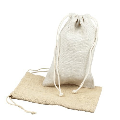 """Burlap Jute Favor Bags (Pack of 12) - Select From 8 Colors Available in 3 Sizes (3""""x5"""", Off-White)"""