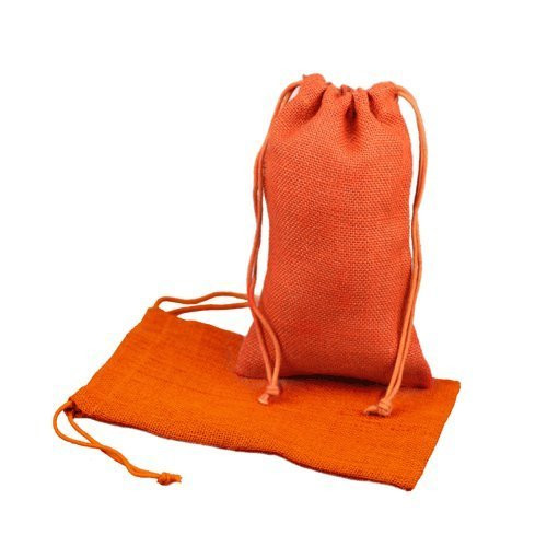 """Burlap Jute Favor Bags (Pack of 12) - Select From 8 Colors Available in 3 Sizes (3""""x5"""", Orange)"""