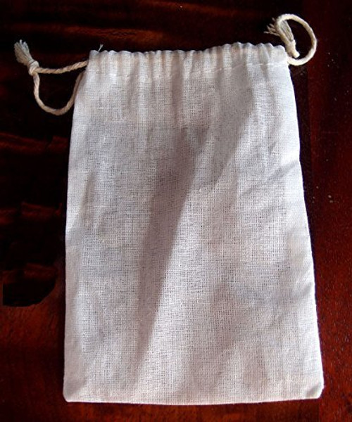 "Cotton Muslin Favor Bags (Pack of 12) - Select From 8 Different Sizes (4""x6"")"