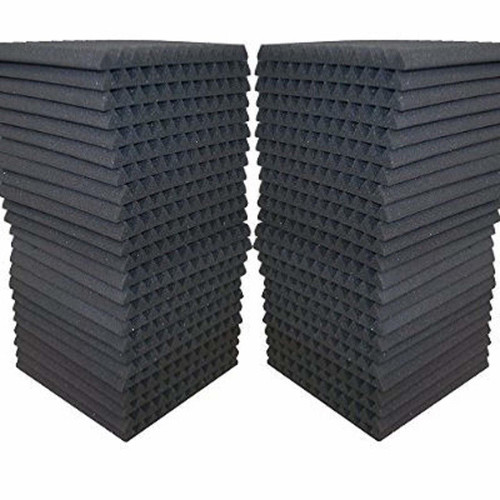 AK Trading Co. Acoustic Panels Studio Soundproofing Foam Wedge Tiles, 12 X 12-Inches, 48 Pack