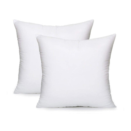 "AK TRADING CO. Square Poly Pillow Insert, 18"" L X 18"" White - 2 Pack"