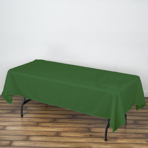 Hunter Green 100% Polyester Rectangular Tablecloth 60 x 102""