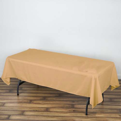 Peach 100% Polyester Rectangular Tablecloth 60 x 102""
