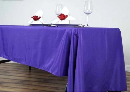 Purple 100% Polyester Rectangular Tablecloth 60 x 102""