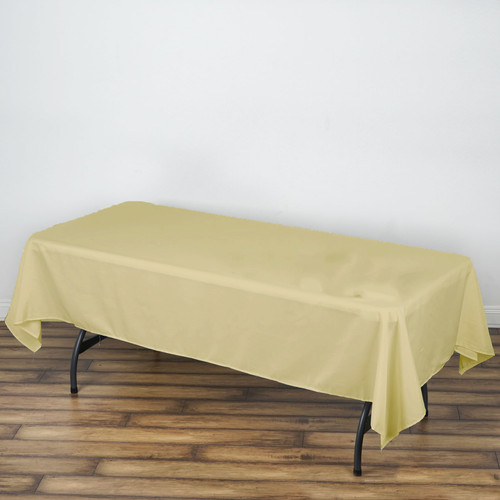 Champagne 100% Polyester Rectangular Tablecloth 60 x 102""