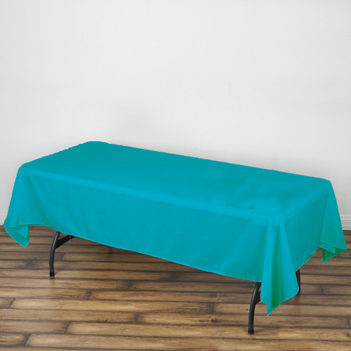 "Baby Blue 100% Polyester Rectangular Tablecloth 60"" x 126"""