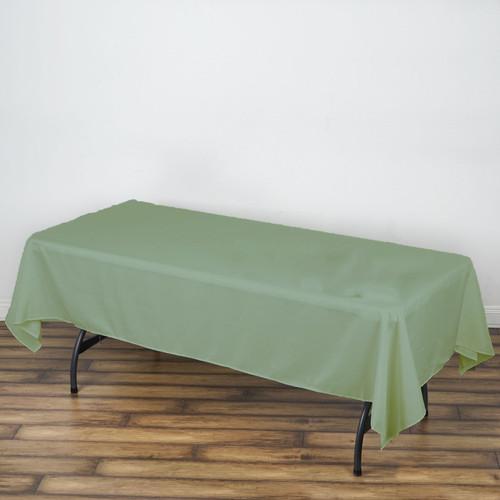"Sage 100% Polyester Rectangular Tablecloth 60"" x 126"""
