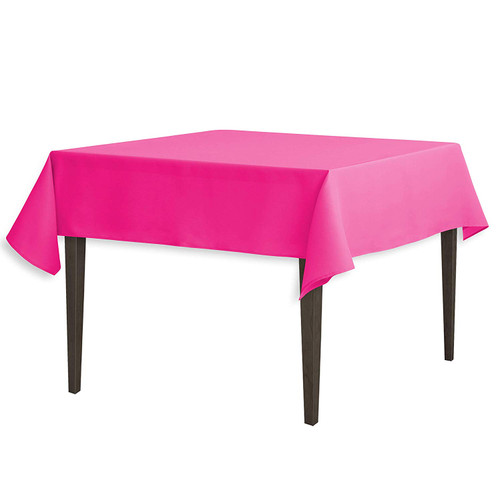 "Fuchsia Square Polyester Overlay Tablecloth 54"" x 54"""