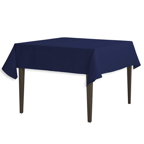 "Navy Blue Square Polyester Overlay Tablecloth 54"" x 54"""