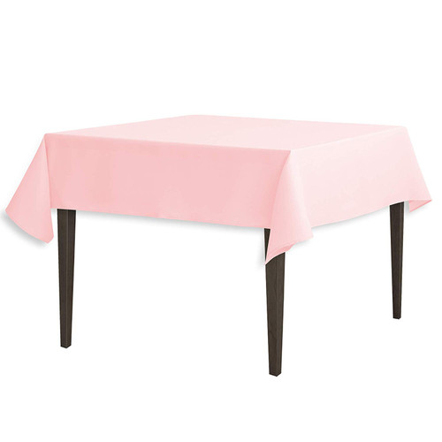"Pink Square Polyester Overlay Tablecloth 54"" x 54"""