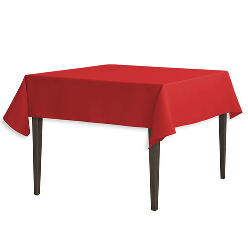 "Red Square Polyester Overlay Tablecloth 54"" x 54"""