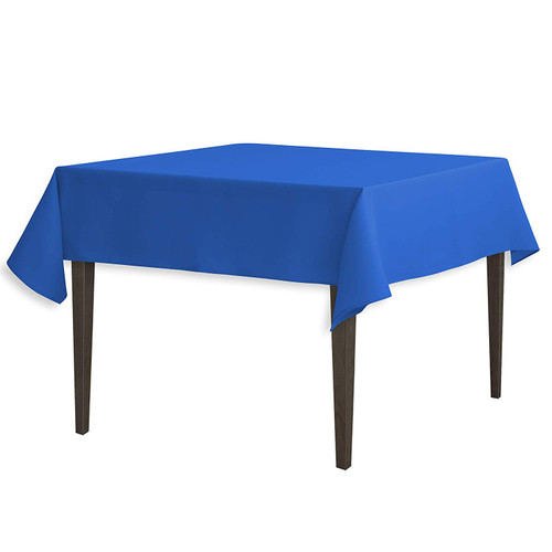 "Royal Blue Square Polyester Overlay Tablecloth 54"" x 54"""