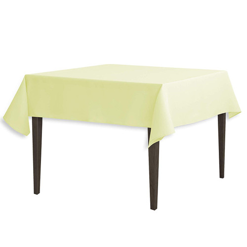 "Tea Green Square Polyester Overlay Tablecloth 54"" x 54"""