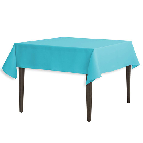 """Turquoise Square Polyester Overlay Tablecloth 54"""" x 54"""""""