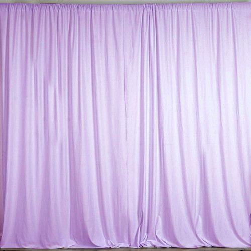2 Pack | 10 Feet Polyester Backdrop Drapes Curtains Panels with Rod Pockets - Wedding Ceremony Party Home Window Decorations - Lavender
