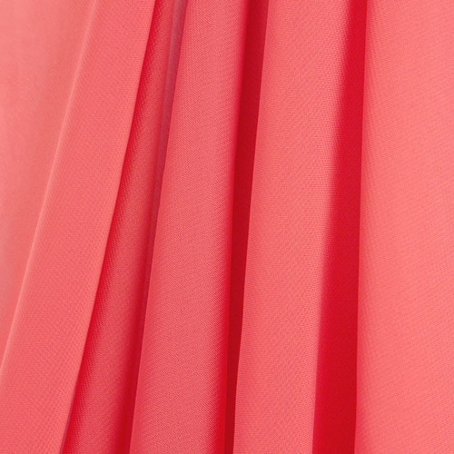 Coral Chiffon Drapes Panels for Wedding Events & Decor- Backdrop Draping Curtains