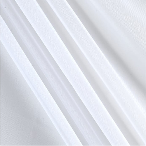 "120"" Wide (10ft Wide) X 120 Yards Roll - Sheer Voile Chiffon Fabric - Perfect for Draping Panels and Masking for Weddings, Parties & Events, Tent Draping - White"