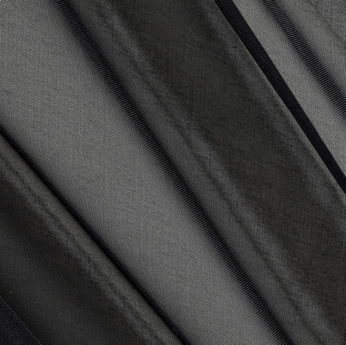"120"" Wide (10ft Wide) X 120 Yards Roll - Sheer Voile Chiffon Fabric - Perfect for Draping Panels and Masking for Weddings, Parties & Events, Tent Draping - Black"