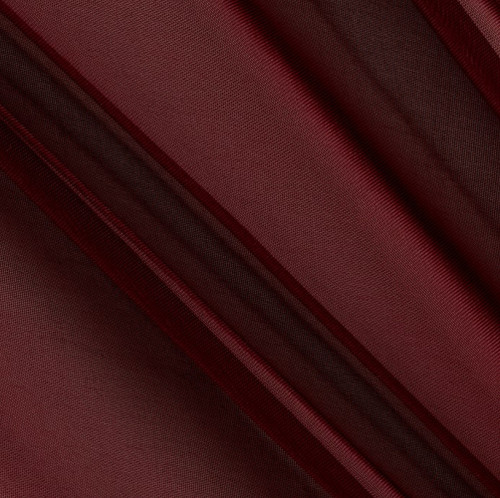 "120"" Wide (10ft Wide) X 120 Yards Roll - Sheer Voile Chiffon Fabric - Perfect for Draping Panels and Masking for Weddings, Parties & Events, Tent Draping - Burgundy"